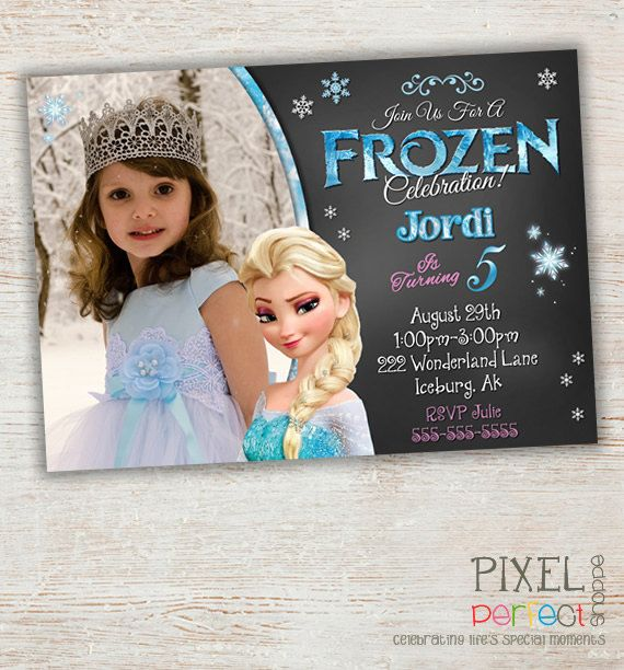 Unique Frozen Birthday Invitations Ideas On Pinterest Elsa - Birthday invitation templates for 1 year old