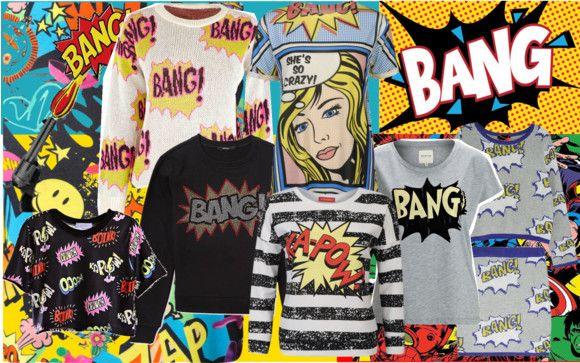 Trend Alert:  Comic-book Clothing.  www.shellystuckman.blogspot.com