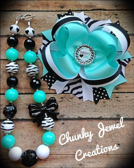Daddy's Girl Chunky Bead Necklace & OTT by ChunkyJewelCreations, $22.00