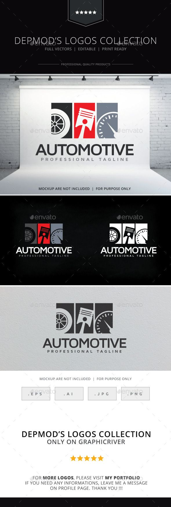 Automotive Logo — Transparent PNG #check up #car painting • Available here → https://graphicriver.net/item/automotive-logo/10255304?ref=pxcr
