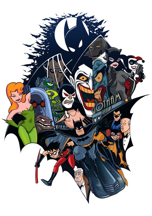 "The world of ""Batman: The Animated Series""."