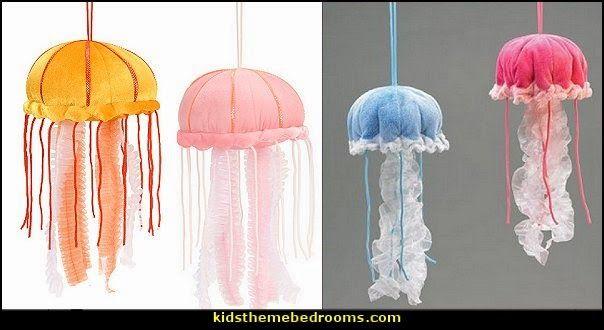 jellyfish hanging decorations-plush jellyfish decor ocean themed bedrooms