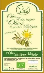 etichette olio logo sfondo giallo