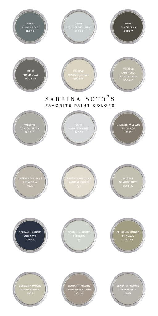 Colour shades for the bedrooms.