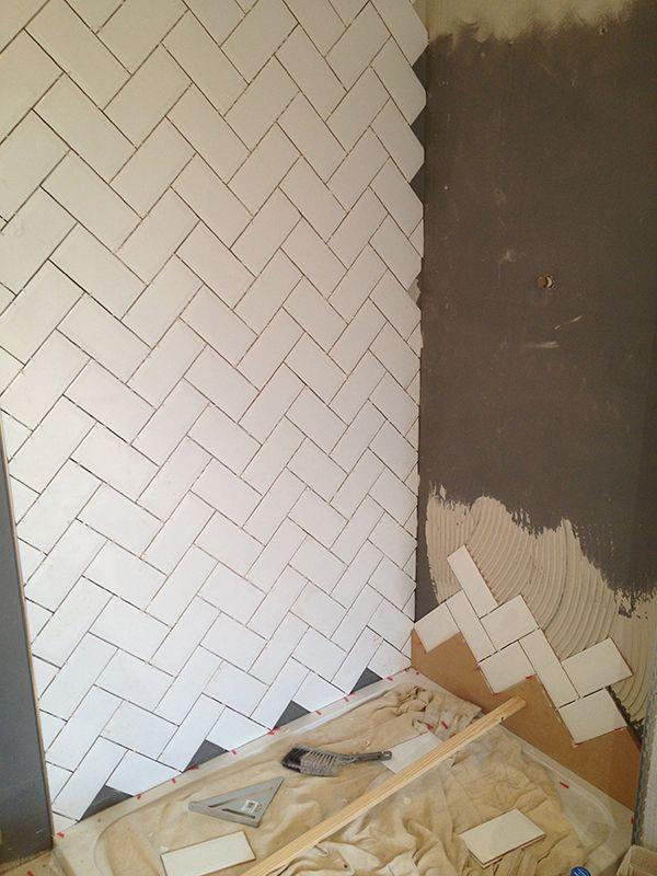 heringbone pattern, subway tiles  @Giselle Pantazis Howard Pantazis Howard Conde