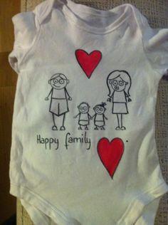Resultado de imagen de camisetas bebe pintadas a mano