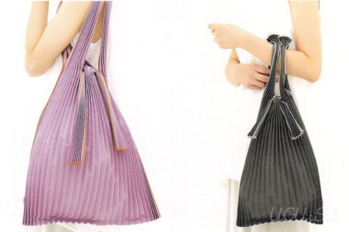 love these pleated eco-bags