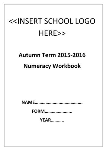 Basic skills numeracy workbook with video links