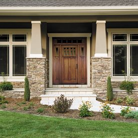 Craftsman Front Door. Also love the windows for dining roomi like the craftsman styl