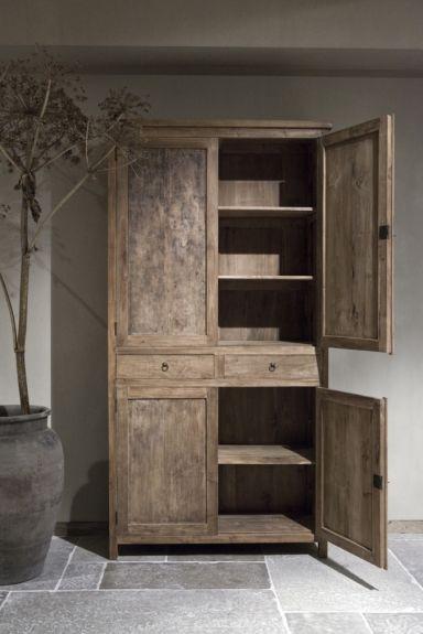 4 drs kast mexico   Unieke oud houten dichte kasten   Webhop Be-Uniq.nl   345.1902.1001.100