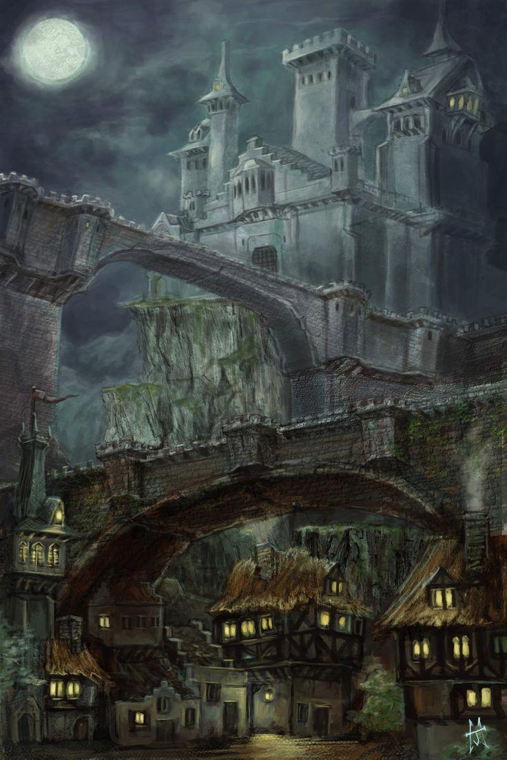 Mordrisvale Castle by j0sh-3000.deviantart.com on @deviantART