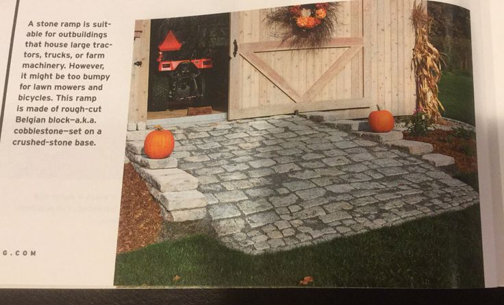 Ramp for shed. From Build A Shed, Summer 2014, Taunton Press.