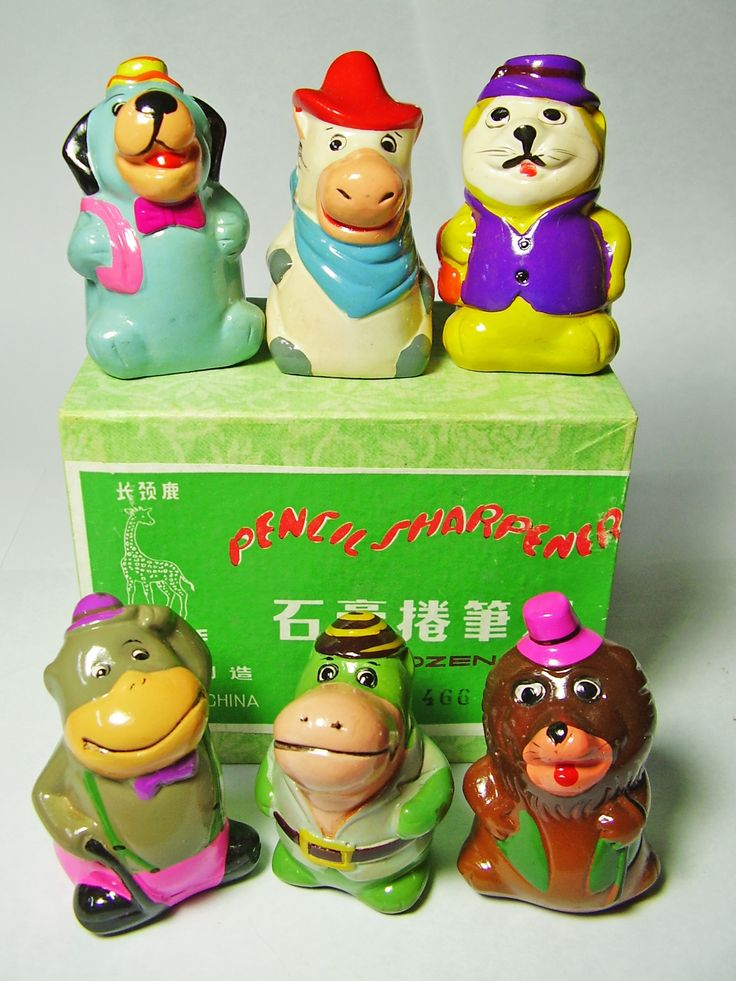 FOR SALE ! 6 Hanna Barbera Cartoon Characters VINTAGE Chinese CHALKWARE clay CERAMIC figural PENCIL SHARPENERS ! http://www.ebay.com/sch/mypinkturtle/m.html?_ipg=50&_sop=12&_rdc=1