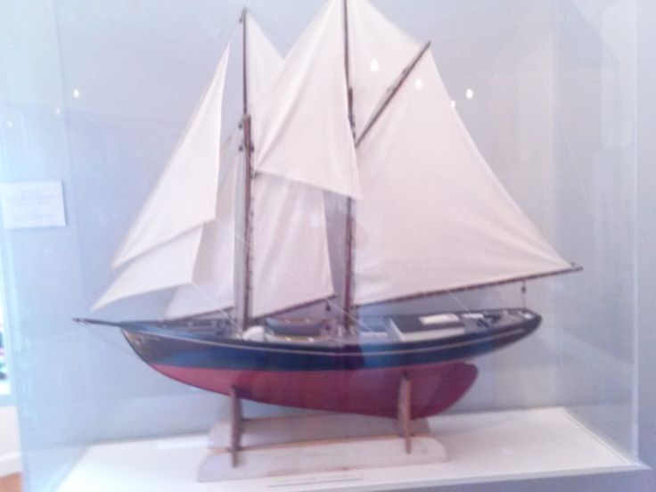 Model Grand Banks Schooner Osprey, Circa 1920's. Photo taken 2014 in the Fishing Gallery at Atwood House Museum, Chatham, MA. #fishing, #model, #ship, #net, #chatham, #chathamhistoricalsociety, #atwoodhouse, #capecod