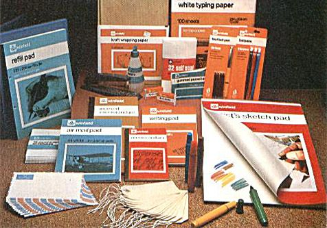 Winfield stationery at Woolworths