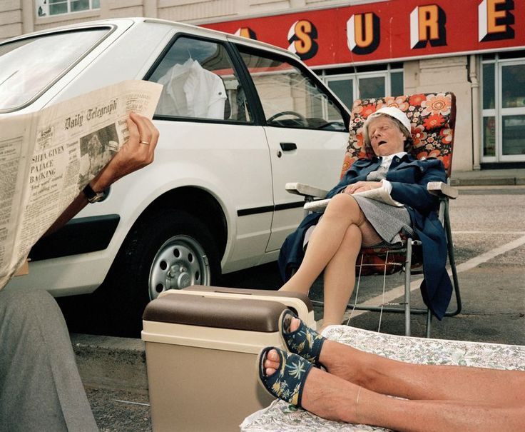 Martin Parr - Kent. Margate. 1986. Looks like a great day out in the parking lot.