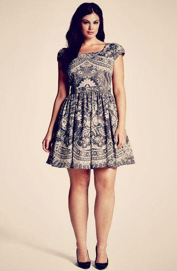 Simple summer dress.Paisley. A Plus Size Fashion Adventure