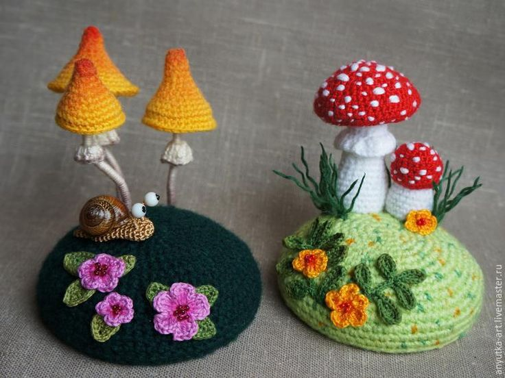 Amigurumi Snail and Toadstool Free Crochet Pattern
