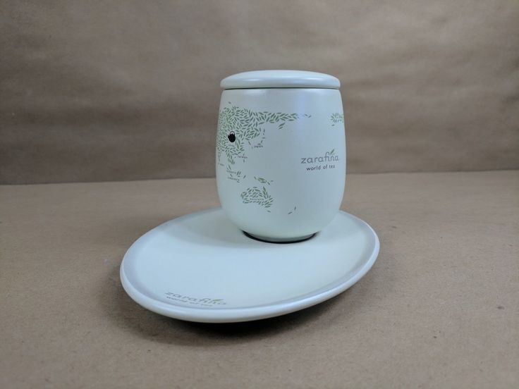 Zarafina Tea Cup With Lid & Plate World Of Tea Signed 2007 Collection China