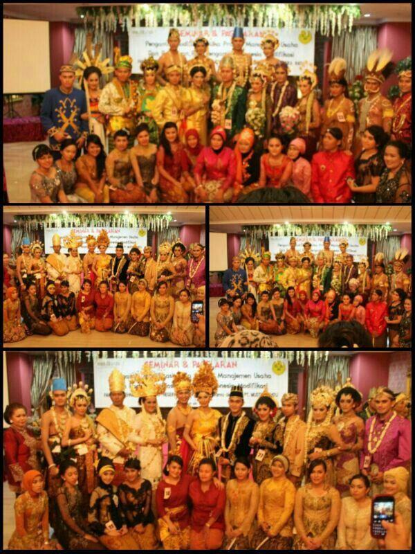 me and all my friends at Pagelaran Tata Rias Pengantin Indonesia Modifikasi 2013