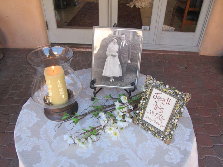 Memorial table at Aldea Weddings