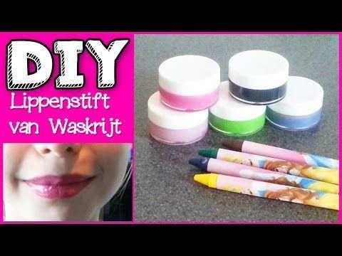 DIY Neon Lippenstift Van Waskrijt Vetkrijt Maken - YouTube