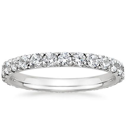 Platinum Sienna Eternity Diamond Ring from Brilliant Earth