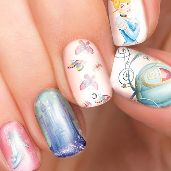 Cinderella Nails: Best 25+ Disney Nail Designs Ideas On Pinterest