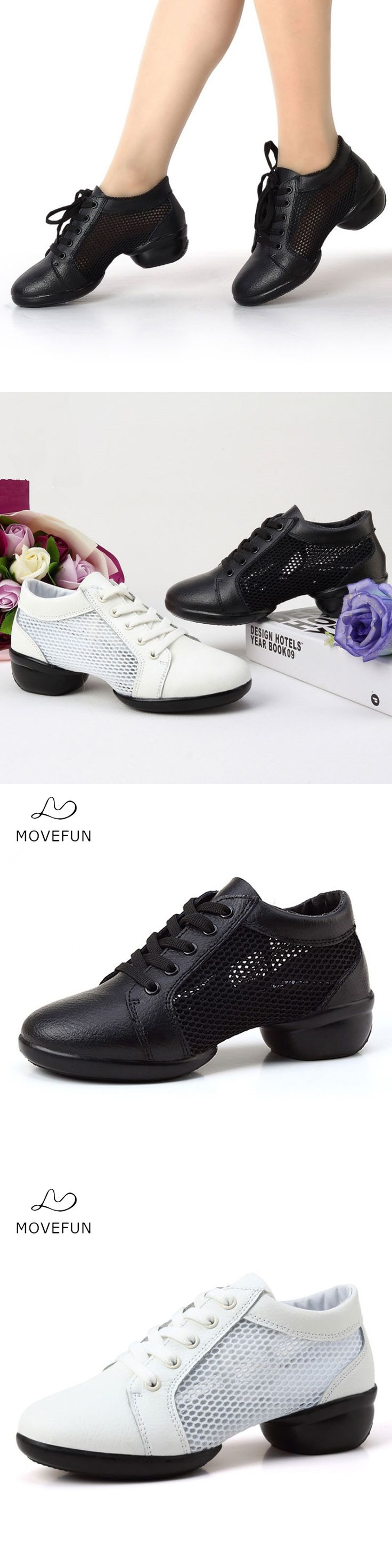 MoveFun 2017 Breath Dance Sneakers Jazz Shoes Women Girls Soft Outsole Dancing Shoe Teachers Fitness Square Dance Shoes Woman-43