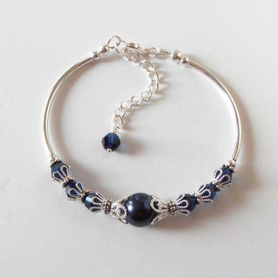 Damigella d'onore della Marina bracciale gioielli di nozze di