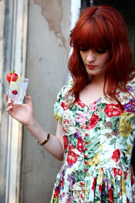 Florence Welch. Florence and the Machine. I love to listen to FATM, her lyrics have such depth, and her voice is amazing. And I LOVE her fiery red hair! <3