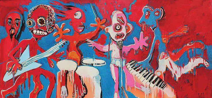 Flow 130x60 cm oil on canvas