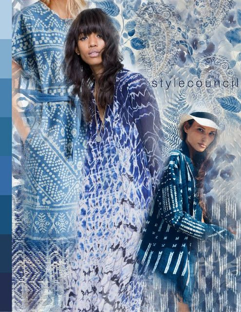 Style Council : Moody Blues :  Shades of denim, midnight navy, electric cobalt, and lighter washes of blue make up the forever trendy elements of indigo.