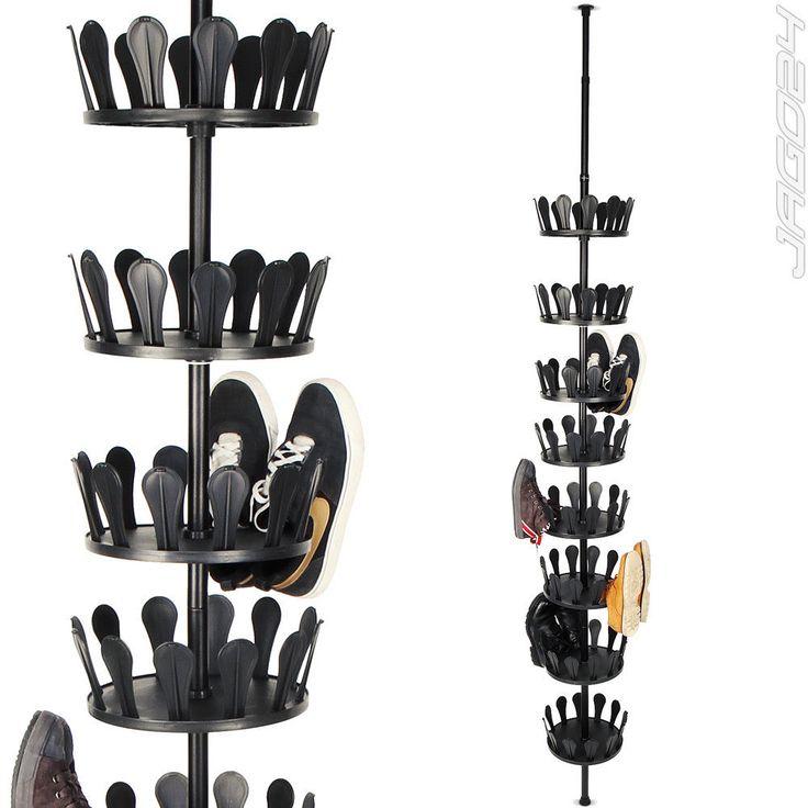 Schuhkarussell Schuhständer Schuhregal Schuhschrank Teleskopregal Garderobe | eBay