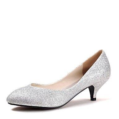 Kitten Heel - Glitter - FRAUEN Absätze/Spitze Zehe - Pumps / High Heels ( Blau/Lila/Rot/Silber/Gold ) - EUR € 29.99