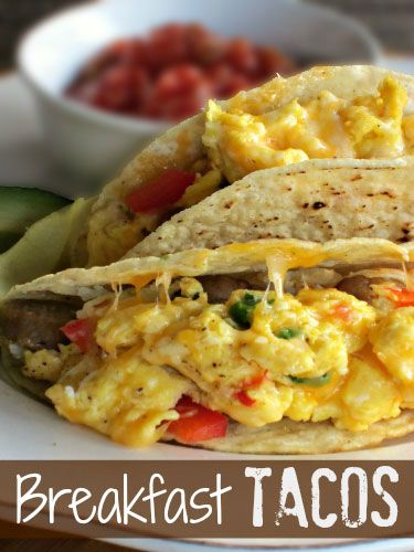 You've heard of the breakfast burrito...now bringing you the Breakfast Taco from sugar-n-spicegals.com.   #taco #eggs #breakfast