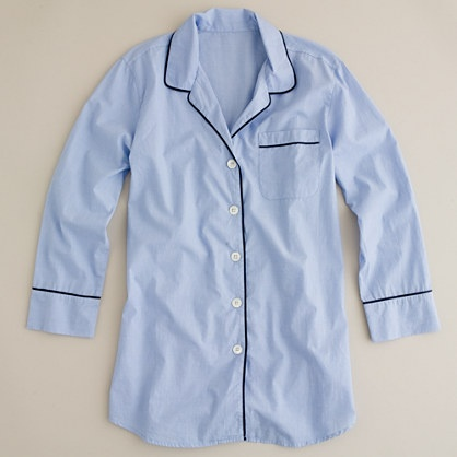 Nightshirt in end-on-end cotton - This is monogrammable!