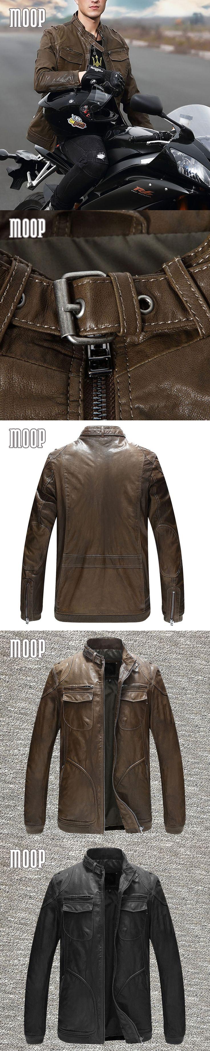 Genuine leather jacket men sheepskin rock coats motorcycle jacket chaqueta moto hombre veste cuir homme cappotto free ship LT049