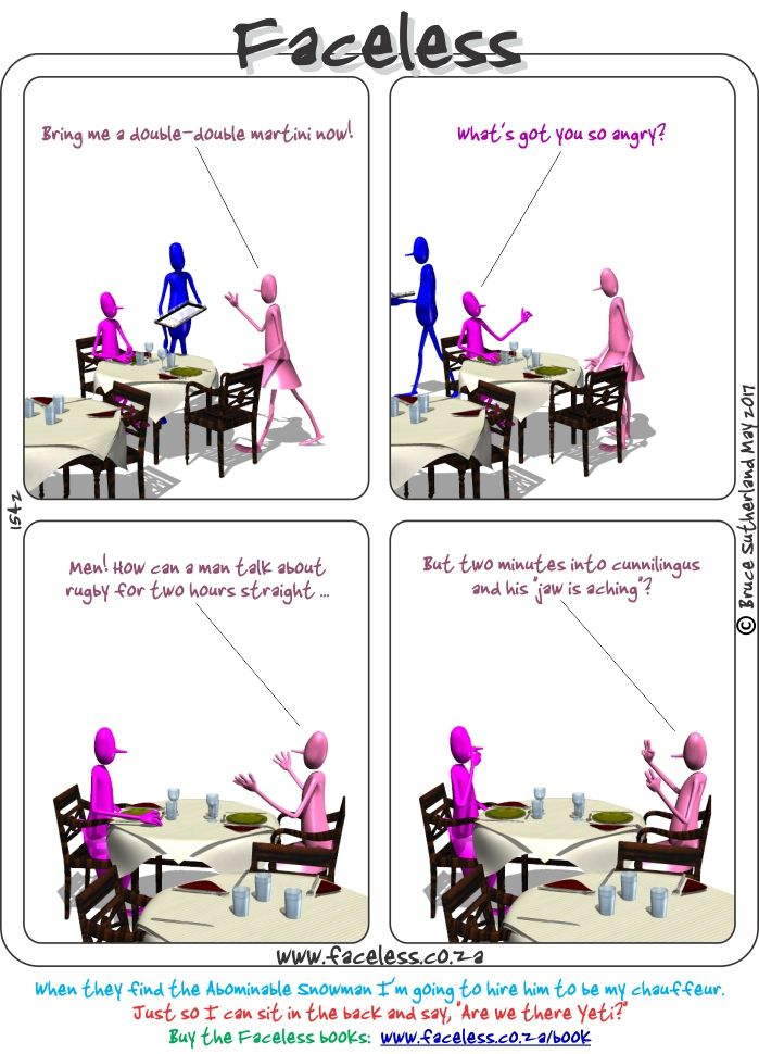 Faceless Comics: Bring me a double-double martini now!