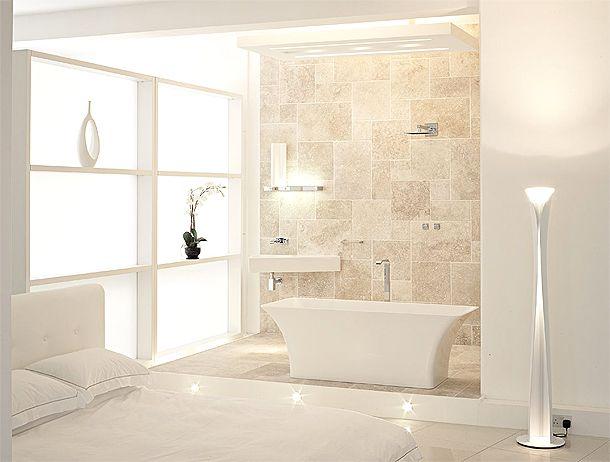White interior lifestyle studio in london decor for Small zen bathroom ideas