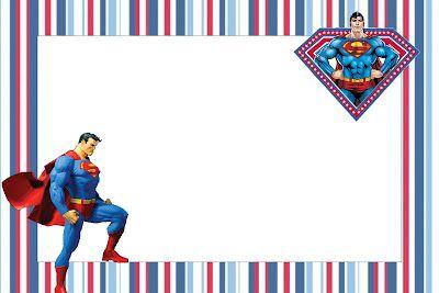 Imprimibles de Superman.