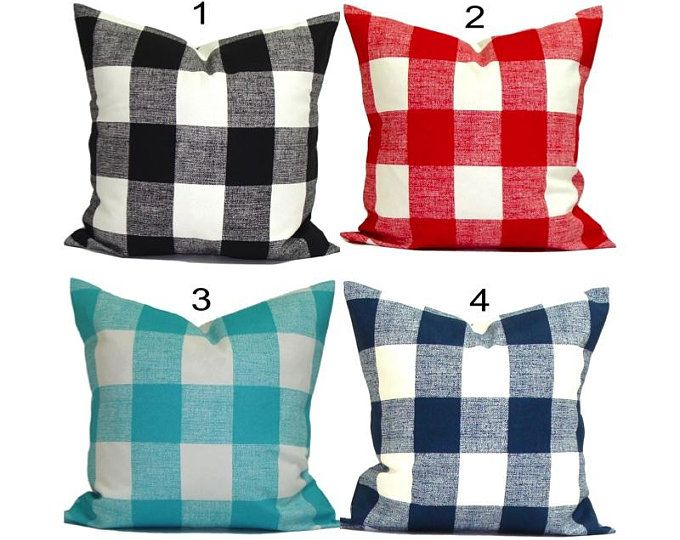Farmhouse Pillows Farmhouse Decor Farmhouse Pillow Cover Check