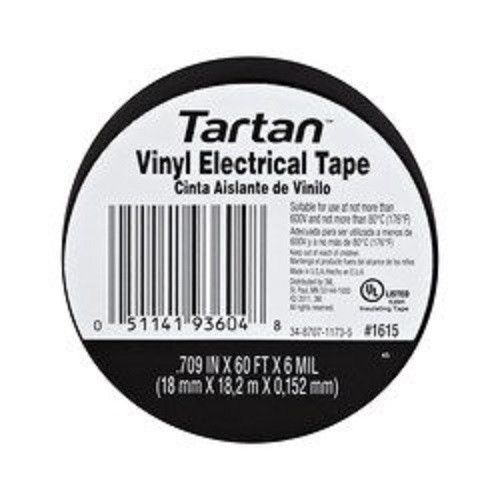 "3M 49656 Tartan 1710 Vinyl Insulating Electrical Tape, 3/4"" x 60', 30 Rolls"