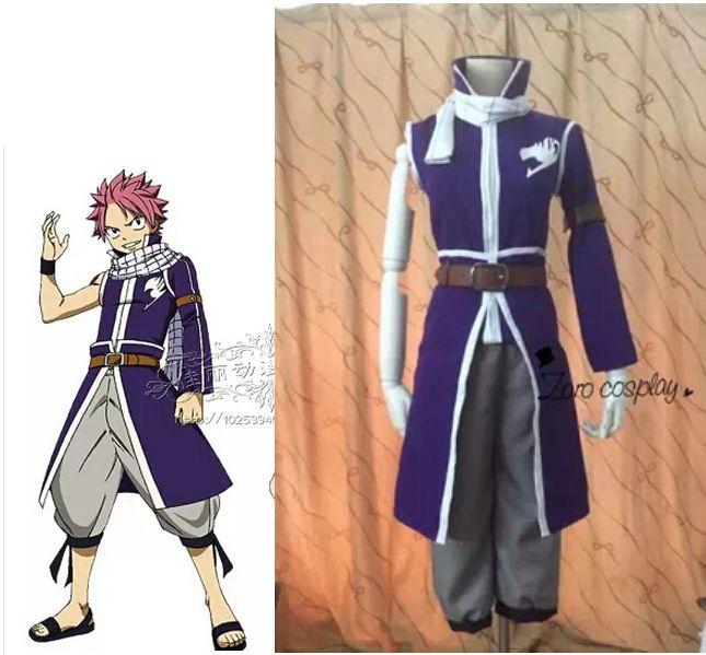 Anime hot Fairy Tail cosplay costume Natsu Dragneel cosplay costume scarf purple set #Affiliate