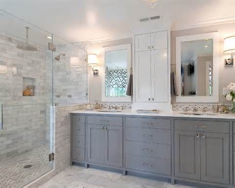 White And Gray Bathroom best 25+ light grey bathrooms ideas on pinterest | bathroom paint
