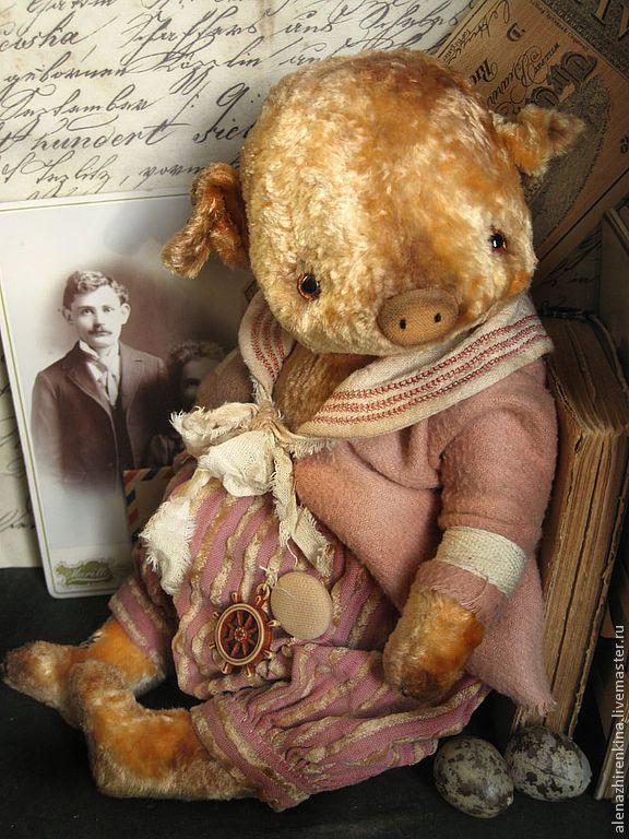 Купить Лёнечка - бледно-розовый, розовый, мишка тедди, Плюшевый мишка, плюш, поросенок, свинка