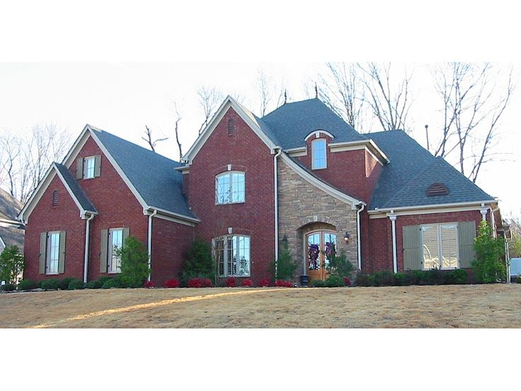 Charleville place luxury home red brick exteriors brick for Www houseplansandmore com