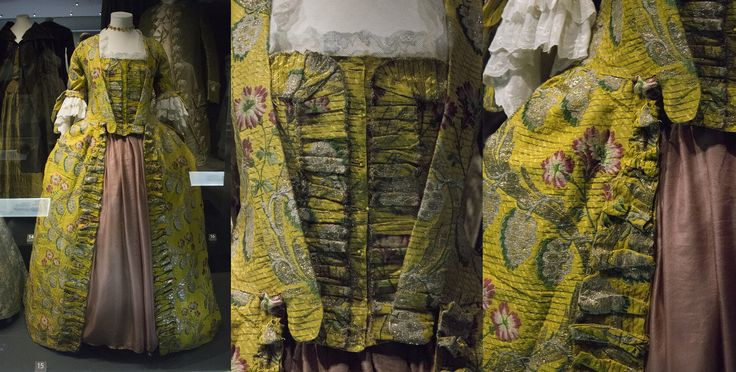 18th century dress and stomacher. Fashion museum Bath