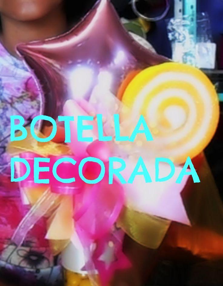 BOTELLA DECORADA RECICLADA// MANUALIDADES DE VERO