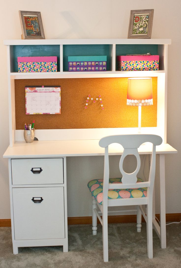 White Desk For Girls Room Fascinating Best 25 White Desks Ideas On Pinterest  Chic Desk Home Office Decorating Design